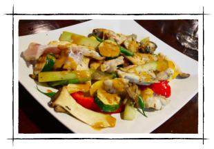 ふぐ中骨と野菜のグリル